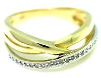 Russian Style Band 22 Diamond 9ct 9K Solid Gold Ring - SZ N/7 - 30 Day Refund