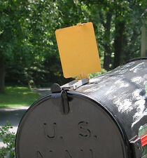 Mail Time!® Mail Box Signal Flag Alert USA made. Aluminum Yellow