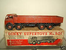 DINKY TOYS MODEL No.501 FODEN DIESEL 8-WHEEL WAGON  ( BROWN VERSION )   VN MIB