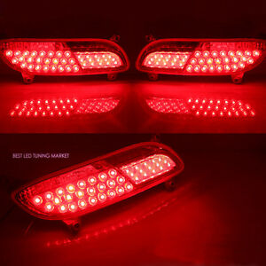 LED Reflector Rear Bumper Lamp Assembly for 2012 2015 Kia Rio 5DR