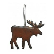 Moose Shower Curtain Hooks Rustic Cabin Metal Bathroom Lodge Decor Gift New