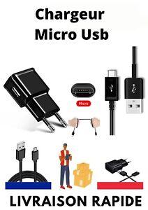 PR SAMSUNG GALAXY S4 Mini Câble Micro USB+ Chargeur 2A Adaptateur Prise Noir