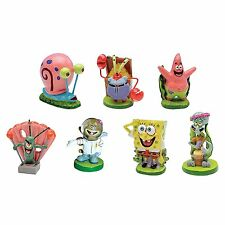 7 Pcs SpongeBob SquarePants  Aquarium Fish Tanks Decorative Water Ornaments Set