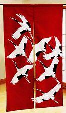 JAPANESE Noren Curtain BIRD TURU CRANE RED  NEW