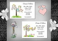 New Home - Change of Address cards x 10 (W22A - W22G) Post Card Style