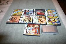 Nintendo DS NTR-001 With 9 Complete Games Pac Man World 3, Super Princess Peach