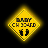 1 Piece Baby on Board Footprint Warning Car Sticker Window Tail Reflective Decal