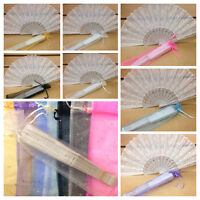 24 PC sparkle organza BAGS(FANS NOT INCLUDED) for hand fan/ONLY BAGS/BAGS ONLY