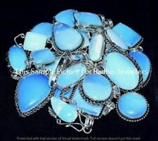 Natural Opalite Gemstone 5 Pcs Wholesale Lots 925 Sterling Silver Plated Pendant