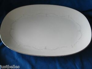 """Noritake WHITEBROOK 13"""" Platter white flowers have more items to this set"""