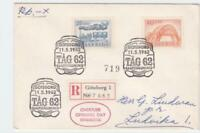 sweden 1962 goteborg registered   stamps cover ref r16235