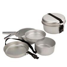 Summit 5 Piece Aluminium Camping Fishing Compact Cook Set Frying Pan Pots