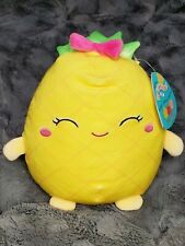 "NWT 8"" Squishmallow Lulu Scented Pineapple KellyToy Cracker Barrel Fruit Squad"