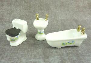 Dollhouse Miniature Half Scale 1:24 Bathroom Set, B0162