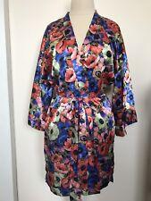 Victorias Secret Robe Small Floral VS gold label spa wrap, robe