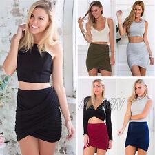 Sexy Women Summer Bandage Bodycon Pencil Skirt Party Clubwear Short Mini Dress