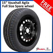 "Vauxhall Agila 2008-2017 15"" FULL SIZE STEEL SPARE WHEEL AND TYRE"