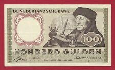 4RW 20 OCT aUNC CONDITION NETHERLANDS 25 GULDEN 1989  P 100