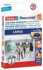 Tesa Powerstrips Strips LARGE für max. 2kg, Packung mit 10 Strips 58000