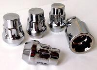 4 x alloy wheel Locking lock nuts bolts lugs M12 x 1.5, 21mm Hex, Taper fits Kia