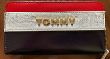 Tommy Hilfiger USA Red, White & Blue Faux Leather Continental Wallet NWT