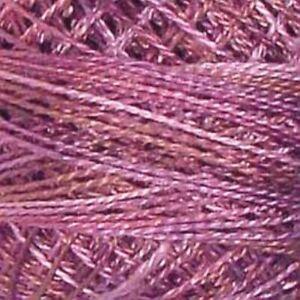 Valdani Perle Cotton Size 12 Embroidery Thread Antique Violet Variegated P10