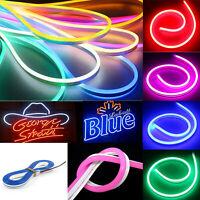 5m 12V LED Strip Neon Flex Rope Light Waterproof Flexible Outdoor Lighting Sale❤