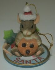 Charming Tails Leaf & Acorn Cookie For Santa Ornament Fitz and Floyd Dean Griff