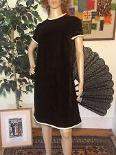 bf5df6e252 Vintage 60s Suzy Perette Chocolate Brown Velvet Shift Dress Medium Large