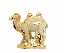 Gold ceramic camel figurine  / Home decorative / Favor, gift