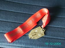More details for england - 1966 world cup winners medal & ribbon - gold plated