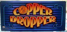 Copper Penny Slot Machine Casino Glass Topper Insert