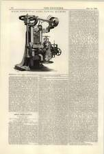 1890 Isaac Hill Derby Horizontal Steel Sawing Machine
