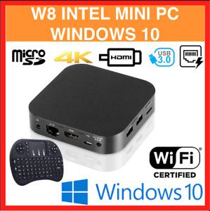 2021 Lastest Update W8 Mini PC WIFI Windows 10 Intel X5-Z8350 Quad Core 2GB/32GB