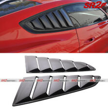 ABS Black 1/4 Side Vent Window Louver Pair Trim fits 15-18 Ford Mustang Coupe