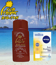 TANNING LOTION SPF 15 AND NIVEA® LIP BALM SPF 30 SKI & SWIM AVOID LIP BLISTERS