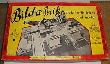 VINTAGE BILDA BRICK KIT 1952 Allied Toy Company Buildings Farm Village Build a