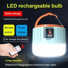 Solar LED Camping Light USB Rechargeable Bulb For Outdoor Portable Tent Lamp