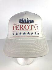 Vtg Ross Perot Trucker Hat 1992 Maine Foam Snapback Independent for President H6