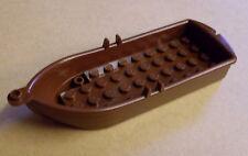 Lego Boot marrón (boat ciudad City Town accesorios Boot barco color marrón-rojizo) nuevo