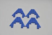 Lego 4 x cuña alas 8x8 con 4x4 escote barco bug azul Blue Plate 4475