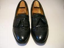 JOHNSTON & MURPHY Men's Size 12 Slip On Wingtip Loafer Dress Shoes Optima Black
