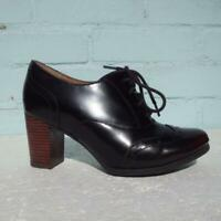 Clarks Patent Leather Ankle Boots Uk 4 Eur 37 D  Artisan Lace up Brown Boots
