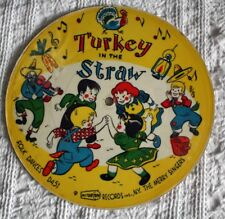 VINTAGE 33 1/3 RPM CARDBOARD RECORD -1955 - TURKEY IN THE STRAW, CAROUSEL