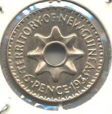 New Guinea Specimen 1935 Sixpence