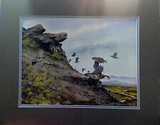 David Hagerbaumer  Original Water Color  Chukar  Painting   Mint condition
