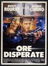 MANIFESTO, ORE DISPERATE Desperate Hours 1990 M.CIMINO, M.ROURKE, POSTER AFFICHE
