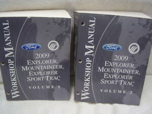 2009 FORD EXPLORER MERCURY MOUNTAINEER  ORIGINAL  SHOP MANUAL SET