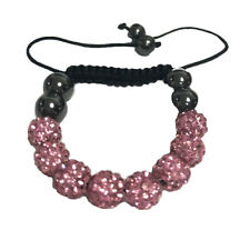 Shamballa Bracelet Crystal Beads Adjustable Wristband Children Kids Disco Ball