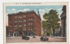 USA, YMCA & High Street, Portland, Maine Postcard, B412
